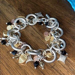 Lia Sophia toggle charm bracelet EUC